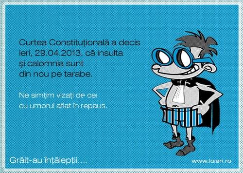 A treia venire a Constituţiei